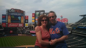 My brand new Mets shirt and my awesome wife!